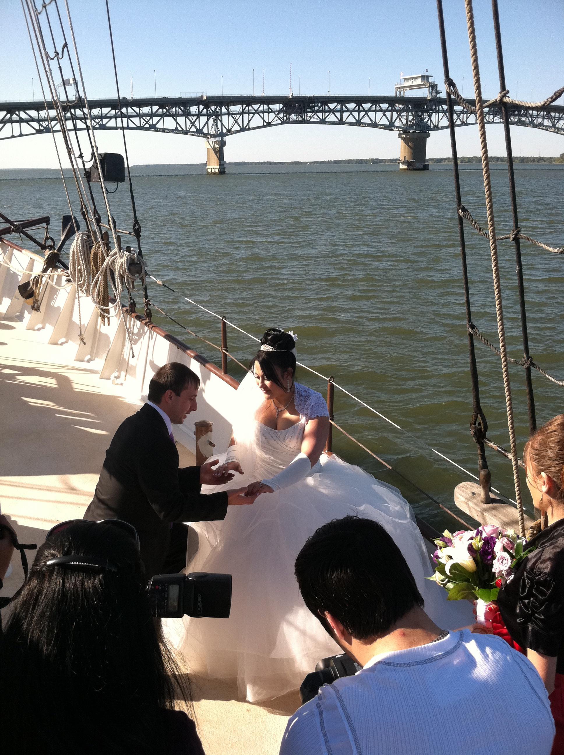 Cruise Boat Weddings Yorktown VA